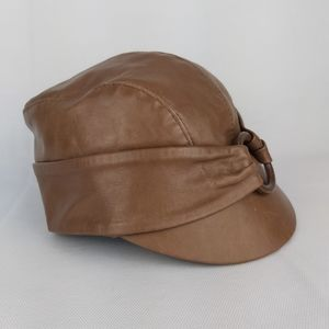 Vintage leather hat made in Canada